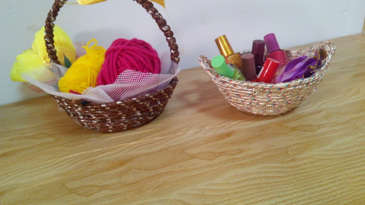 diy crafts home decor how to make an easy basket tutorial diy crafts home decor how to make an easy basket tutorial youtube