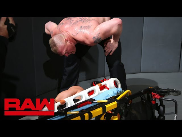 Roman Reigns is brutally ambushed by Brock Lesnar: Raw, March 19, 2018