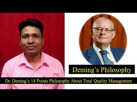 Deming's 14 Points Philosophy of Total Quality Management Concept