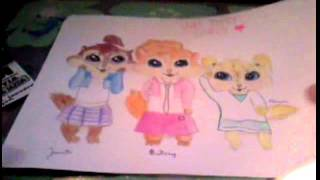 Chipettes Diy-notebook...