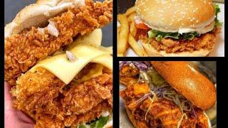 KFC style Chicken recipe,how i made crispy KFC chicken at home,how i made zinger burger at home.