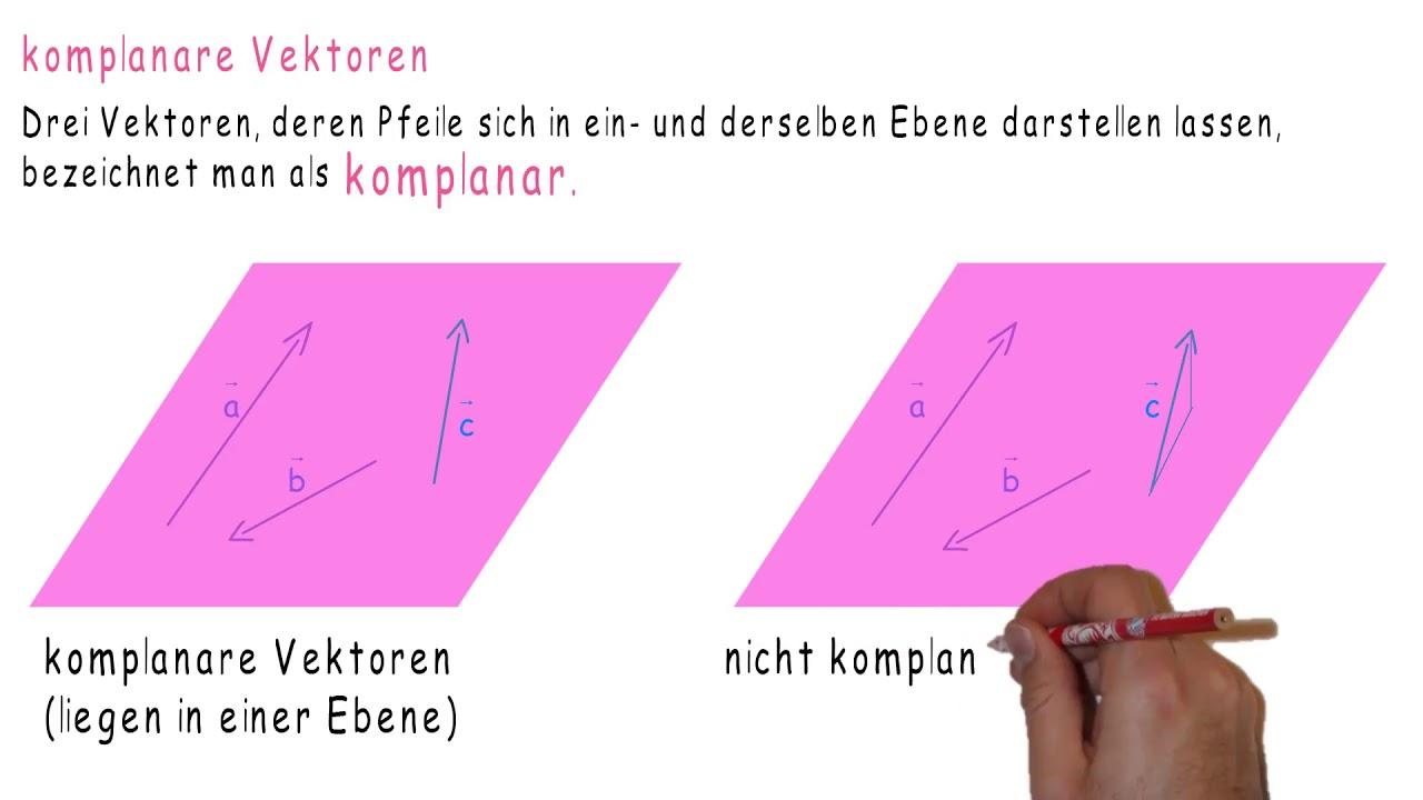 Komplanar 3 vektoren