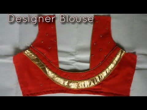Designer Blouse Back Neck Design Cutting And Stitching-5
