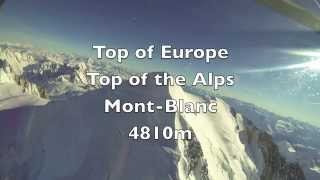 Helicopter Flight over the Mont Blanc