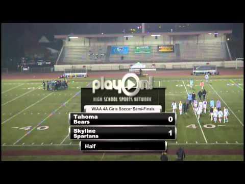 2012 WIAA 4A Girls Soccer Semifinal- Skyline vs Tahoma