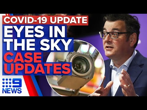 Coronavirus: Police drones to monitor AFL fans, Victoria & NSW cases update | 9 News Australia