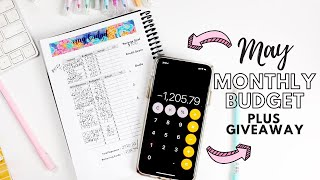 Budget With Me: May 2020 Monthly Budget + $300 Giveaway | Collab