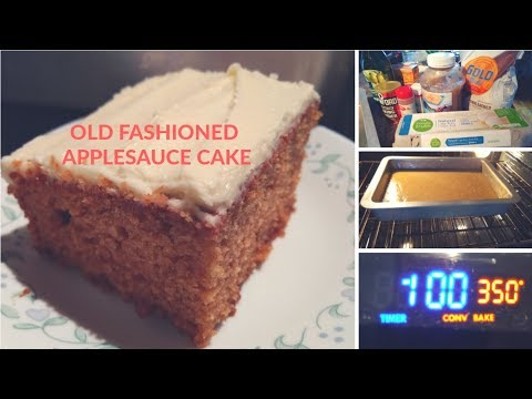 Grandma's Old Fashioned Applesauce Cake with Cream Cheese Frosting