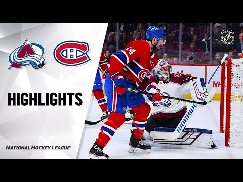 NHL Highlights   Avalanche @ Canadiens 12/5/19