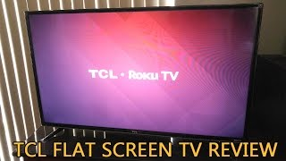 TCL Flat Screen TV 1080p Roku Smart LED