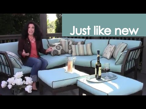 Reupholster or Recover Outdoor Patio Cushions (how to) - Renee Romeo