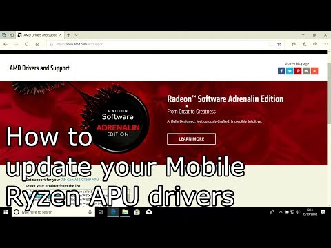 How To Update Your Mobile Ryzen APU Graphics Drivers