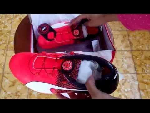 583894ce30e Sepatu Spikes Puma EvoSpeed Disc Tricks Red 189223 01 Unboxing