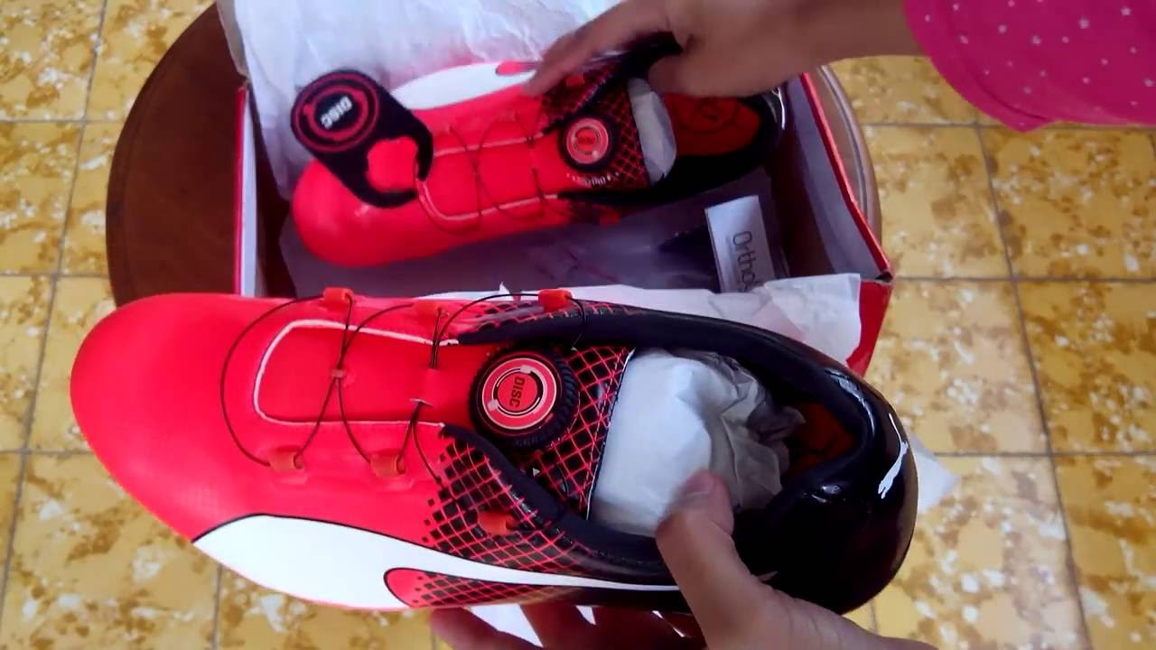 Sepatu Spikes Puma EvoSpeed Disc Tricks Red 189223 01 Unboxing - YouTube 289989dc5