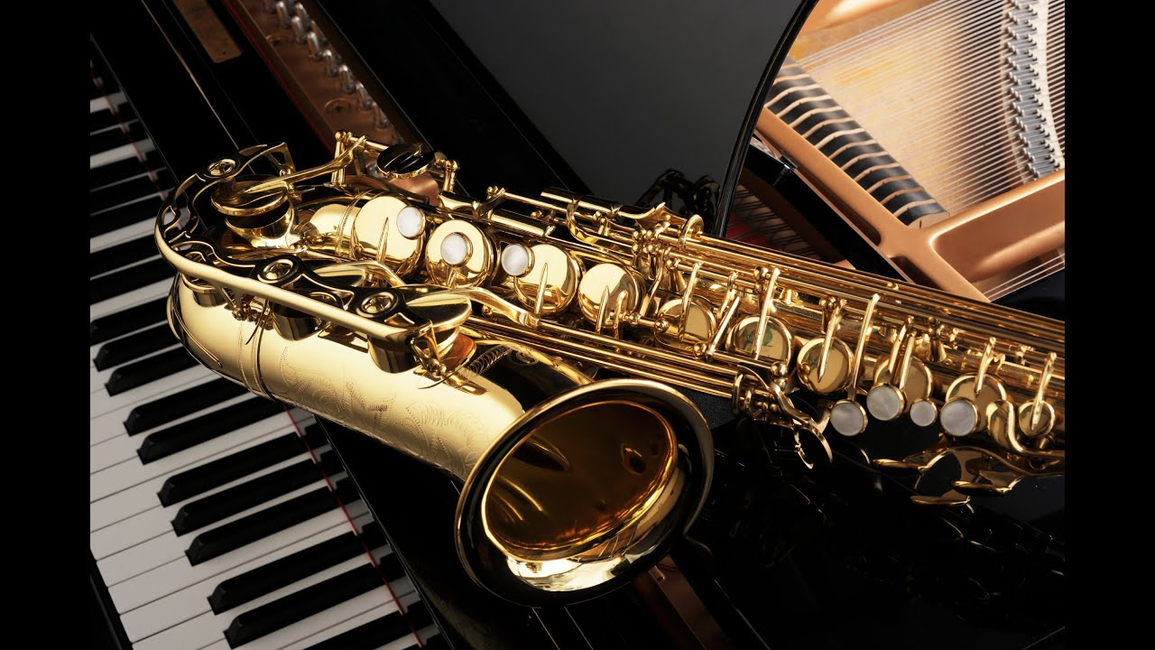 Classic Music Sax Tenor Saxophone And Clarinet In Vintage Wood ...