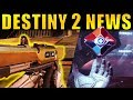 Destiny 2 News: MORE EXOTICS, New PvP Maps, Kill-Counter Ghost, & More!