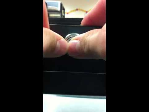how to open a door with a paperclip