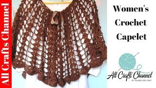 How to crochet a capelet (subtitulos en Espanol)