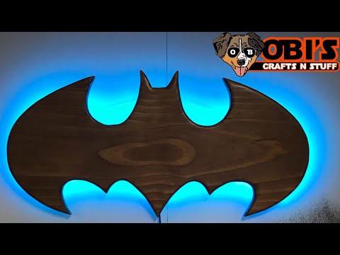 How to make a wooden Batman wall lamp