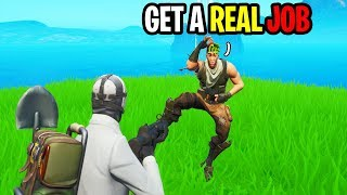 I Got Bullied By Default Skin For Being A Youtuber... (Fortnite)