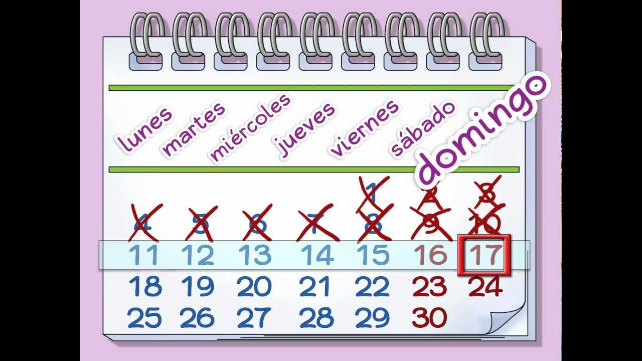 Calendar Days Of The Week In Spanish.Learn The Days Of The Week La Semana Calico Spanish Songs For Kids