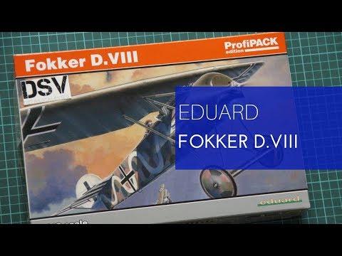 Eduard Plastic Kits 8085-1:48 Fokker D.VIII  Profipack Neu