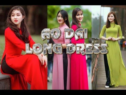 AO DAI DRESS/लॉन्ग कुर्ती /Vietnamese Long Dress