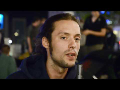 "aCAMPada Berlin ""empört euch!"" Alexanderplatz 02.09.11 Interview mit Daniel"