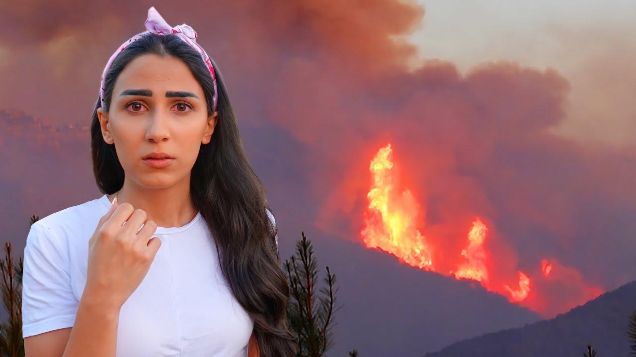 امر ب اخلاء البيوت بسبب الحرائق 🔥😰