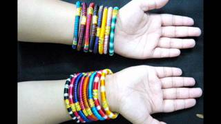 Indian Bollywood fashion silk thread bangles.wmv Thumbnail