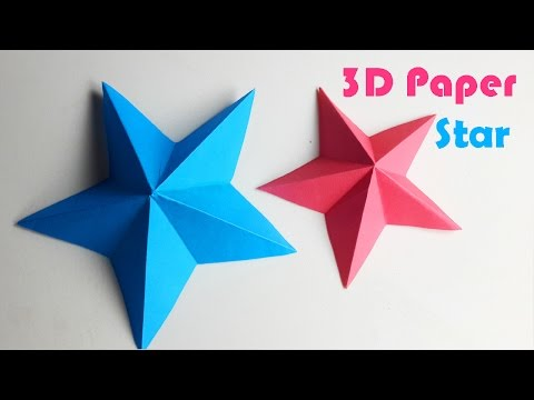 How To Make A 3D Paper Star - DIY Paper Craft
