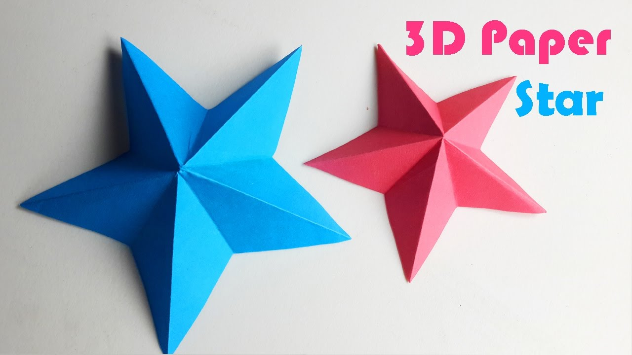 How to make a 3d paper star diy paper craft youtube how to make a 3d paper star diy paper craft jeuxipadfo Choice Image