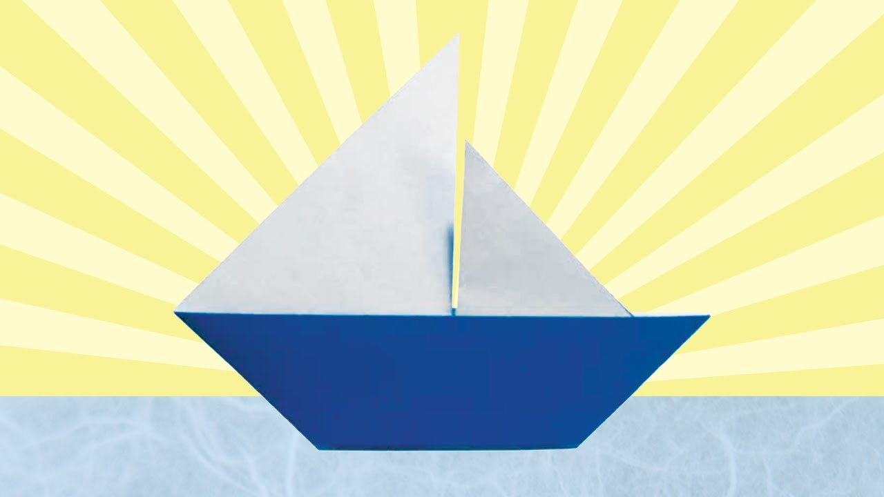 How to make a paper boat that floats - Origami boat. - YouTube | 720x1280