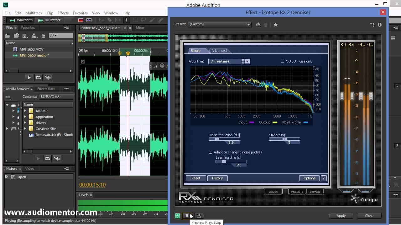 Removing Background Noise From Audio with iZotope RX Denoiser