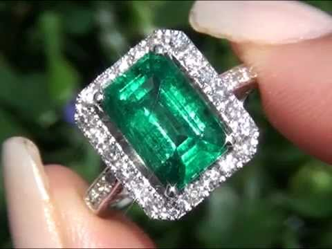 Angelina Jolie Certified Zambian Emerald Amp Diamond Ring