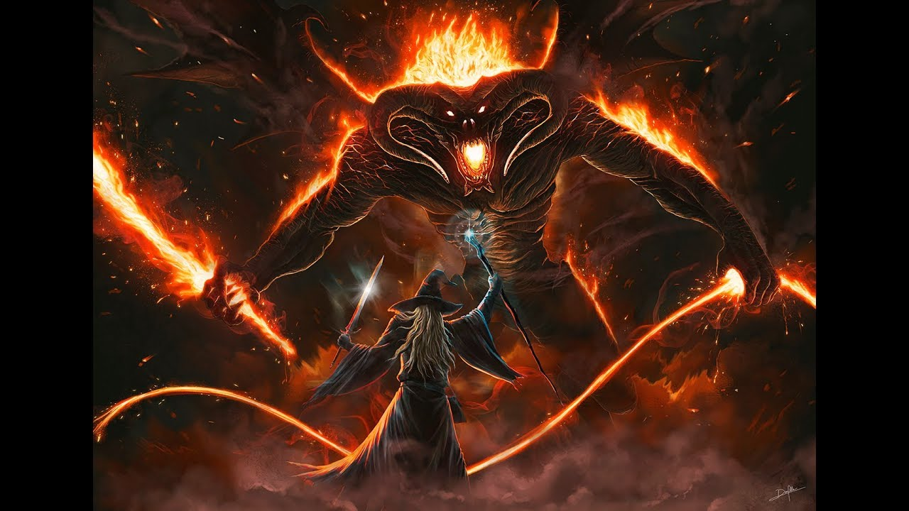 Image result for balrog vs gandalf