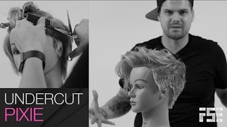 Q & Haircut - Undercut Pixie Haircut like Tegan Quin - Step by Step