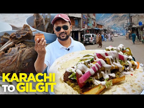 Karachi to Gilgit   Pure Veg Falafel, Shahi Dal & Chicken Ka