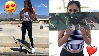 My Girlfriend Tries To Skate!