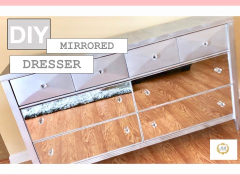 diy-mirrored-dresser-|-affordable-|-makeover