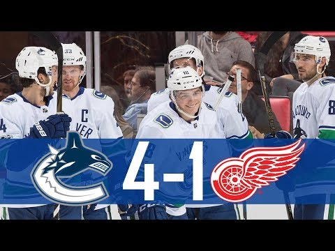Canucks vs Red Wings | Highlights | Oct. 22, 2017 [HD]