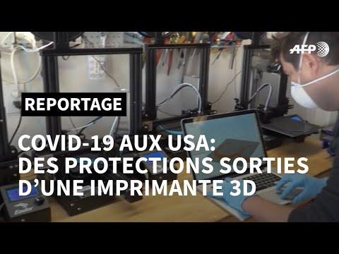 Coronavirus: un Américain passionné de 3D fabrique des protections pour soignants   AFP News