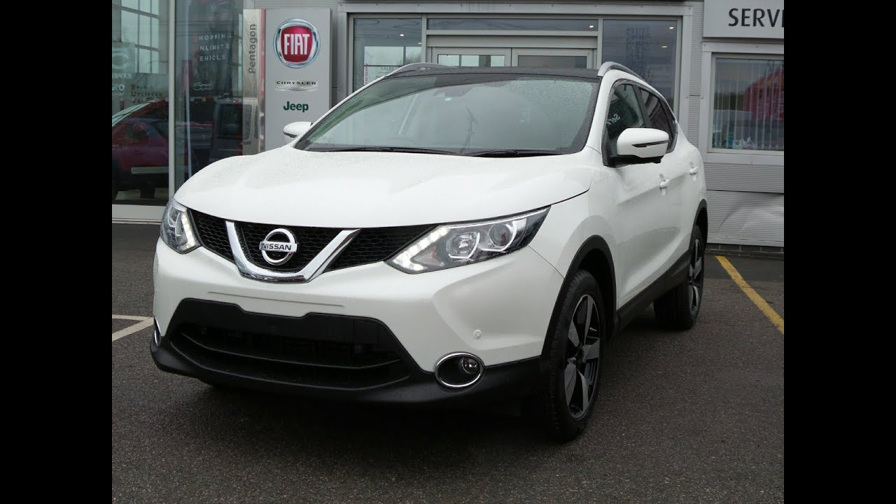 2016 16 nissan qashqai 1 5 dci n connecta 5dr in storm white youtube. Black Bedroom Furniture Sets. Home Design Ideas