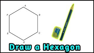 How to draw hexągon without compass || how to draw hexagon || Rn Learning