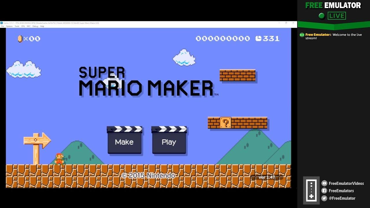 Super Mario Maker Cemu Full Save