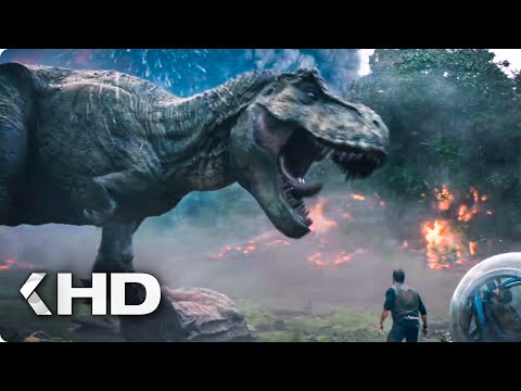 Running from the Volcano Explosion Scene - Jurassic World 2 (2018)