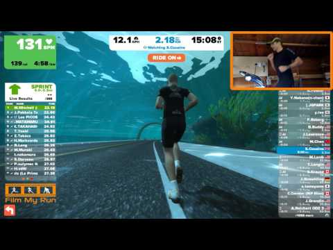 Zwift Running - 5k Using Badly Calibrated Tick X