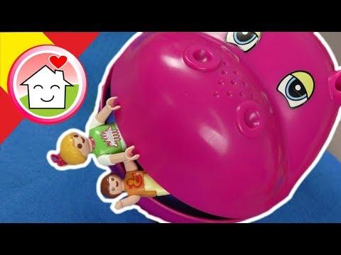 Playmobil en español El parque de hipopótamos - parque de atracciones - Familia Hauser