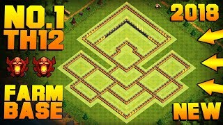 BEST TH12 FARMING BASE 2018 w/ PROOF!! | NEW CoC Town Hall 12 Hybrid Base | Clash of Clans