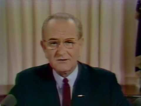 President Johnson's Address to the Nation, 3/31/68. MP600.